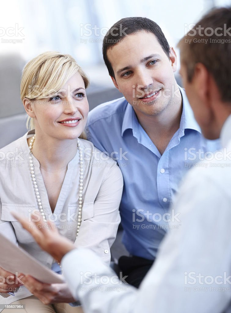 They're getting advice for a promising and stable future royalty-free stock photo