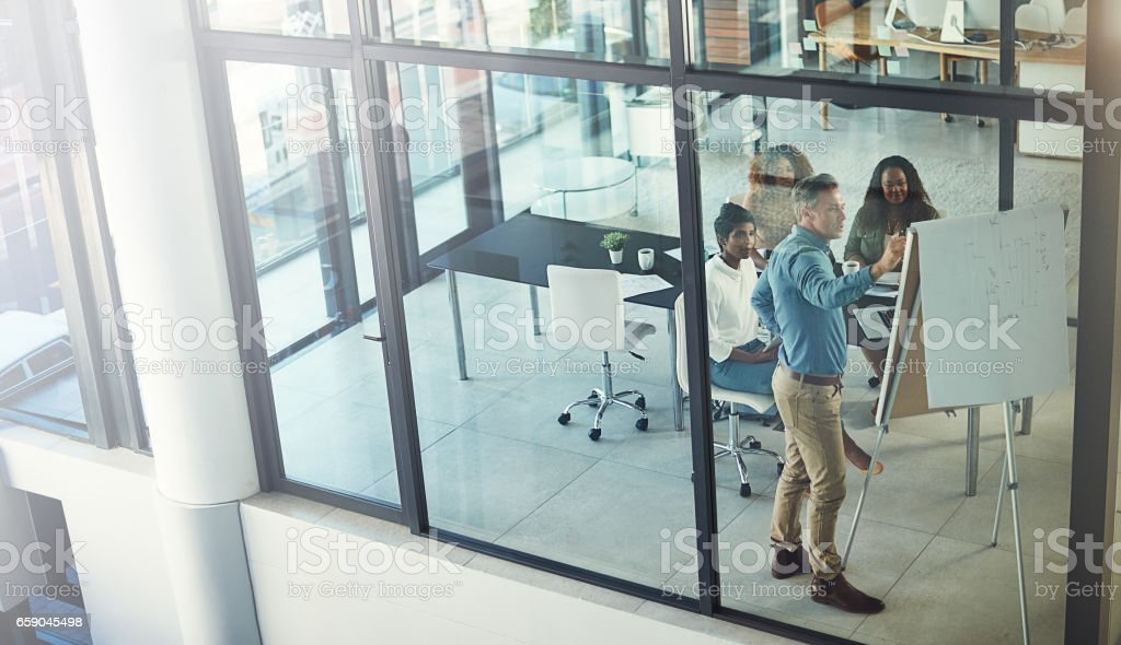 They're headed for the top of success together royalty-free stock photo