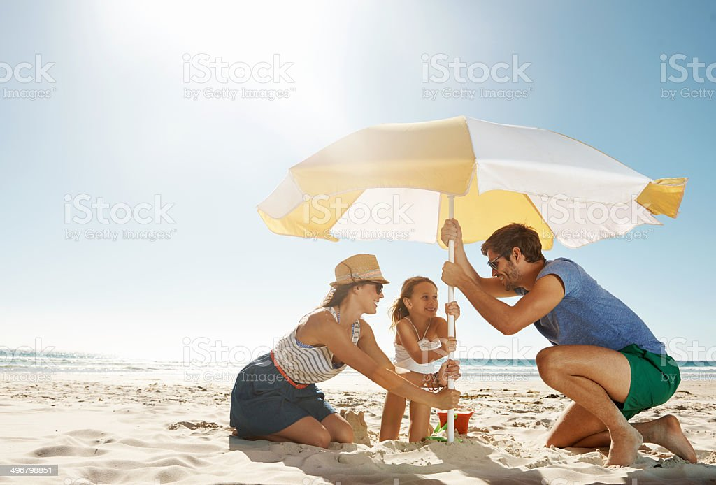 They're in it together stock photo