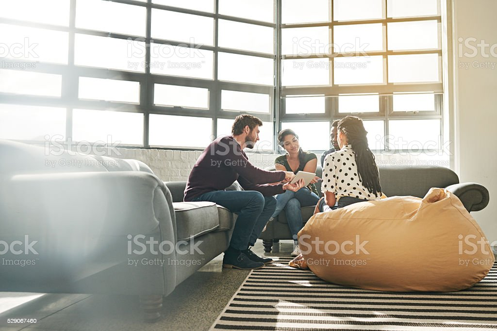 They're in the planning phase of their project stock photo