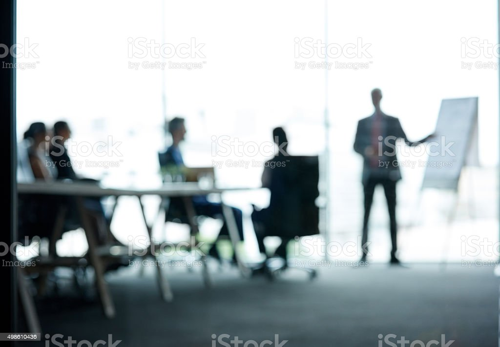 They're on top of the corporate ladder stock photo