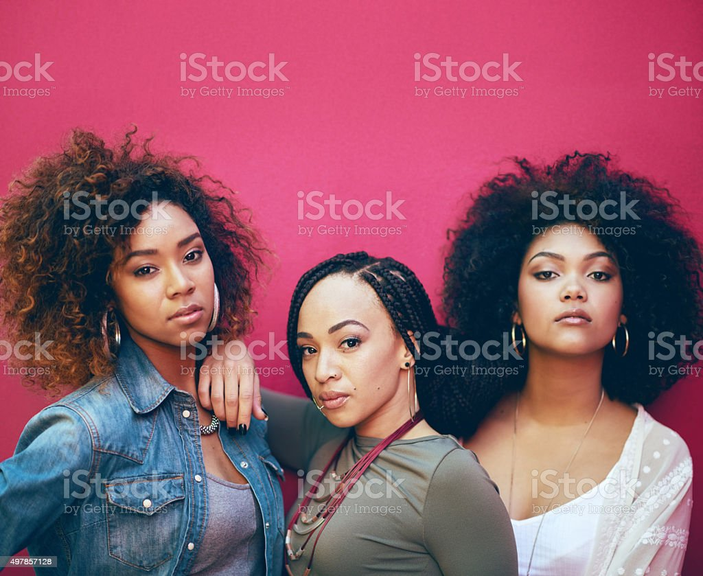 They're one stylish clique stock photo