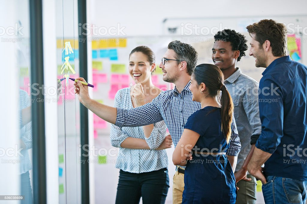 They're positive about his ideas royalty-free stock photo