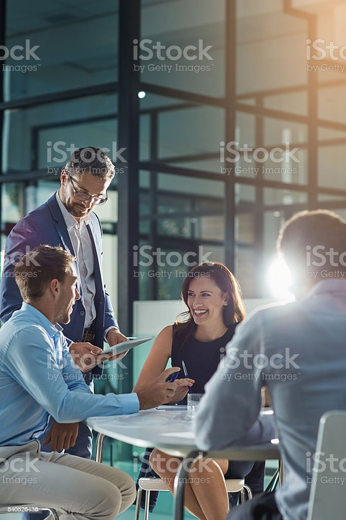 They're professionals at problem solving stock photo