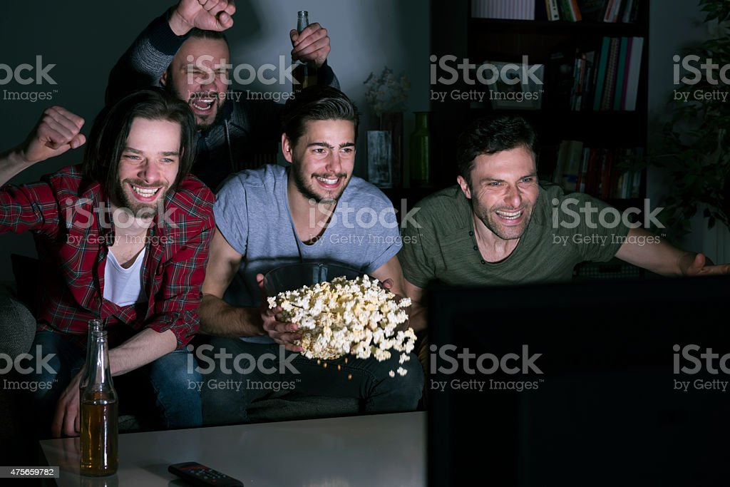 Son verdaderos seguidores de fútbol americano - foto de stock