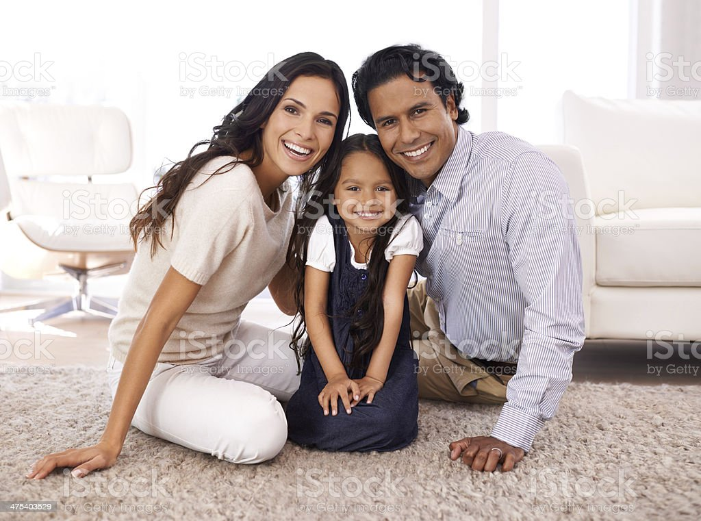 They're such a close-knit family stock photo