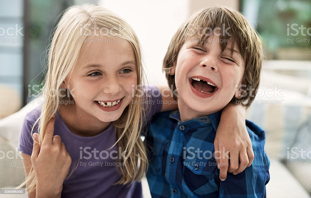 They're too cute for words stock photo