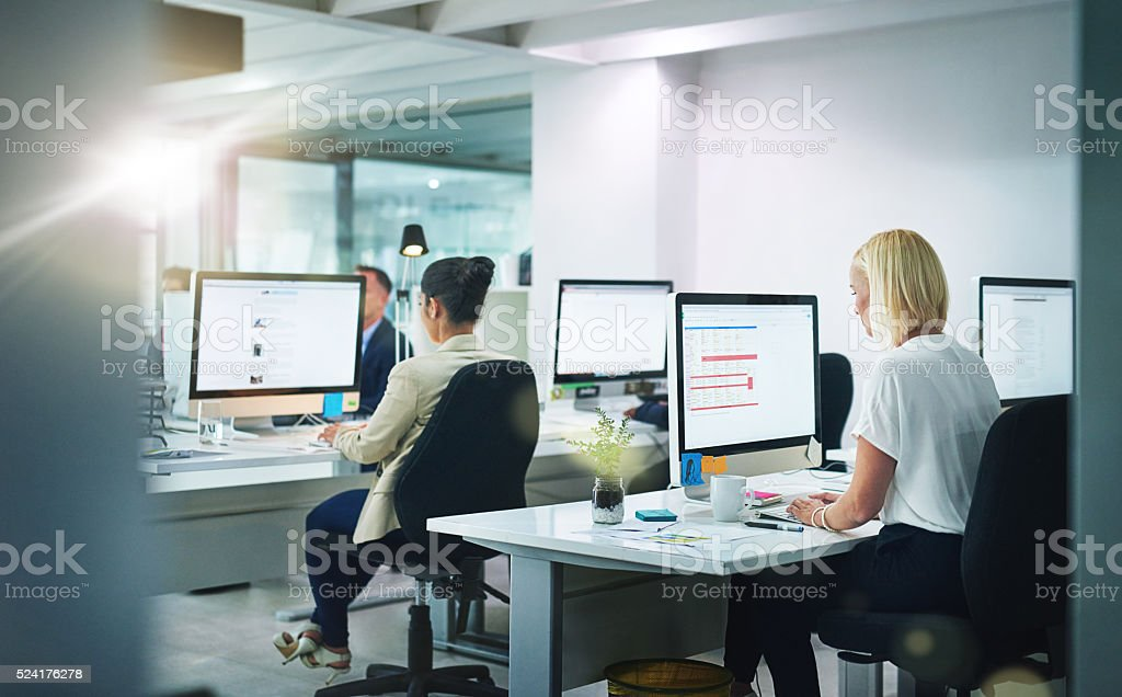 They've all got jobs to do stock photo