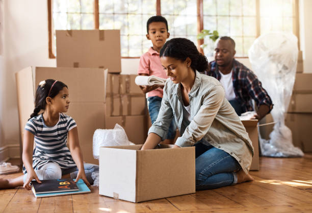 they've found a new place to call home - relocation stock photos and pictures