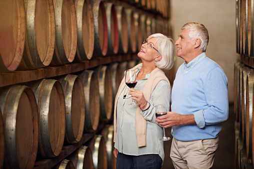 Cropped shot of an affectionate senior couple wine tasting in a cellarhttp://195.154.178.81/DATA/i_collage/pi/shoots/806028.jpg
