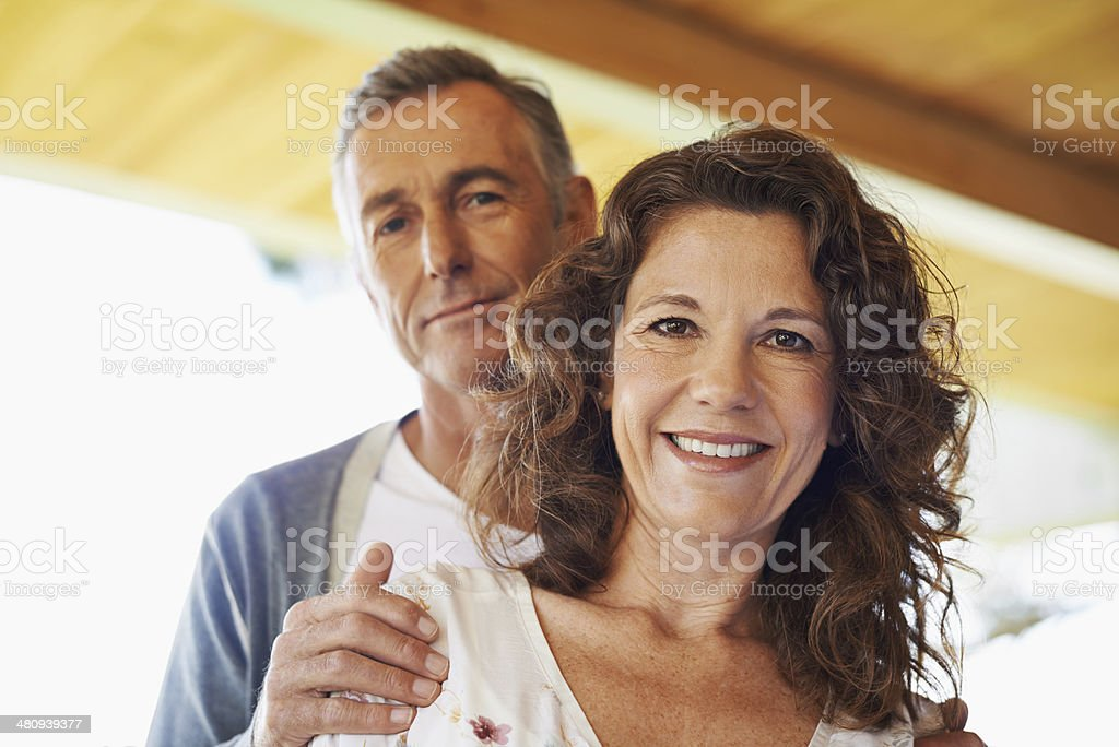 They've got a rock solid relationship! stock photo