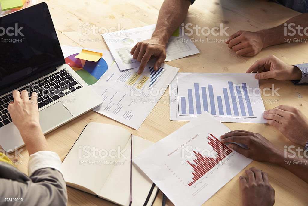 They've got everything they need in front them stock photo
