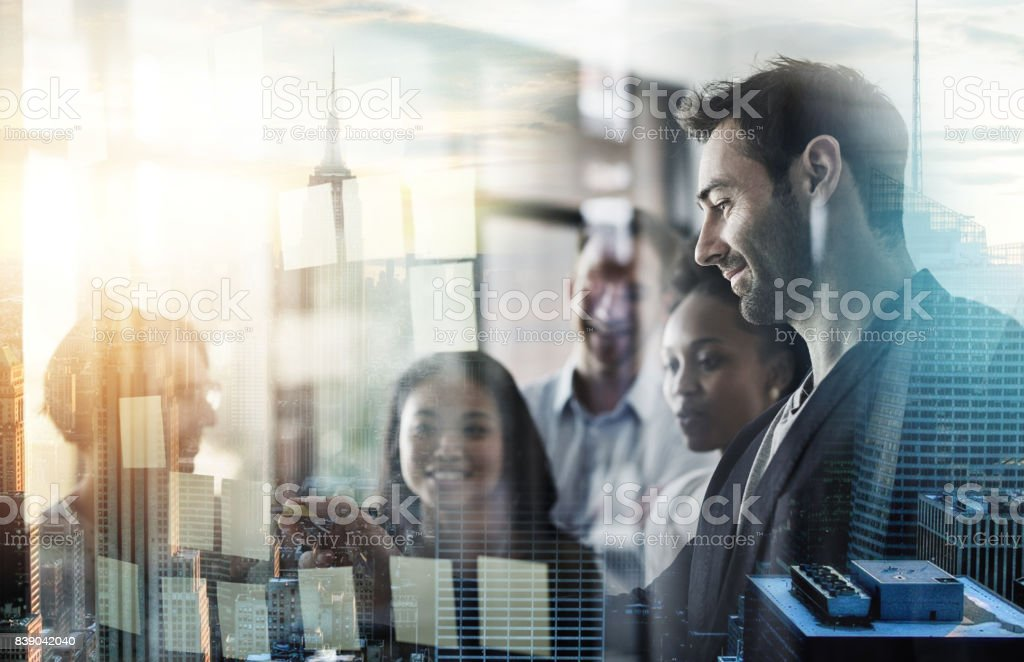 They've got great visions of success stock photo