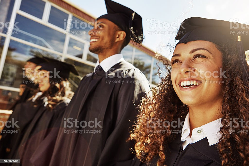 They've worked hard to get here today stock photo