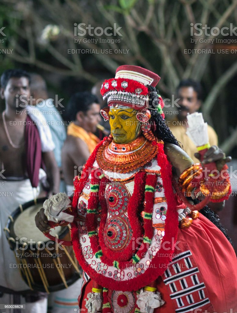 Theyyam Ceremony in Kerala state, South India stock photo