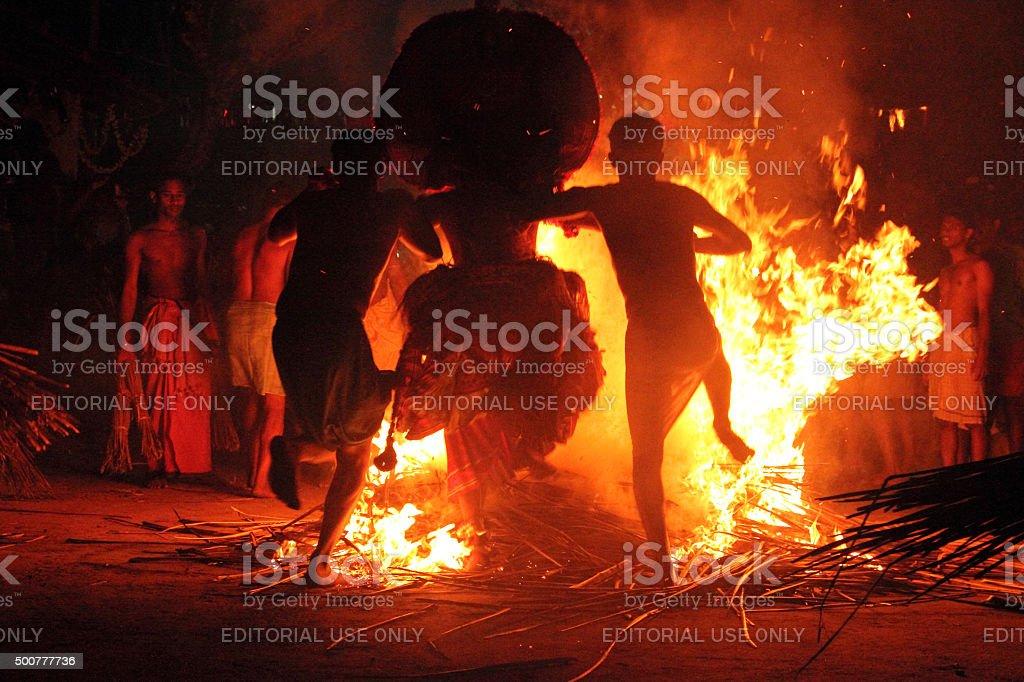 Theyyam performance stock photo