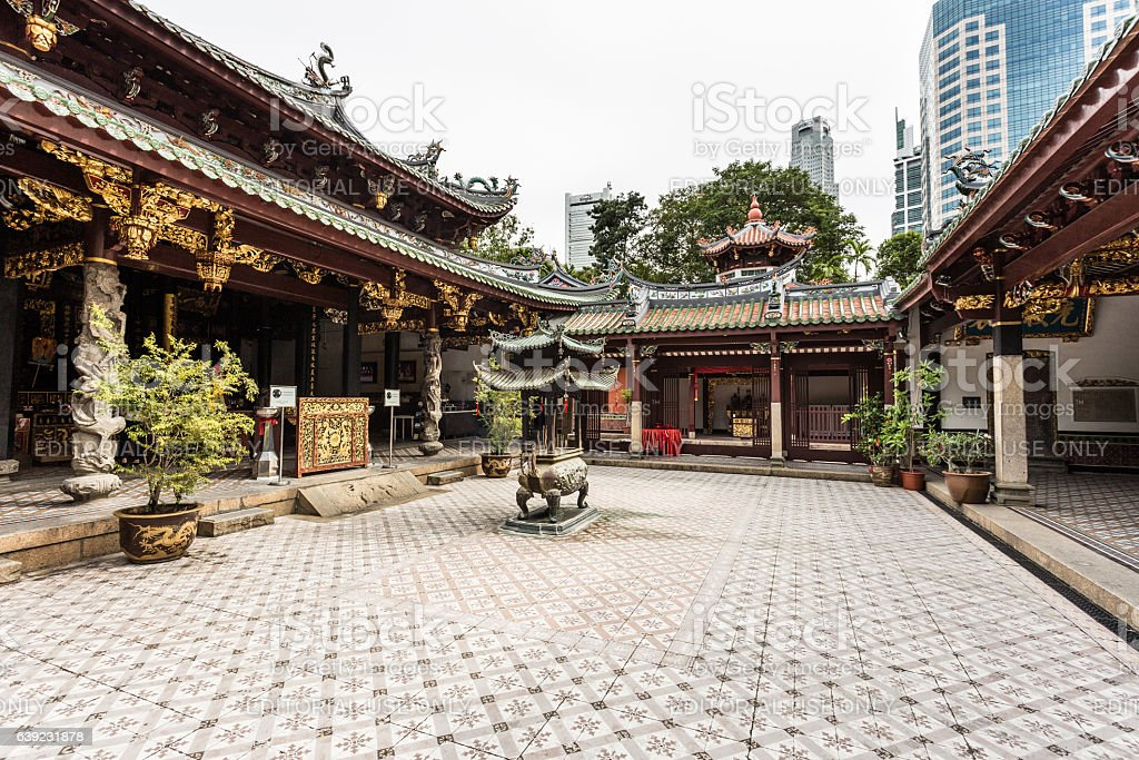 Thian Hock Keng Temple In Singpaore Stock Photo - Download Image Now