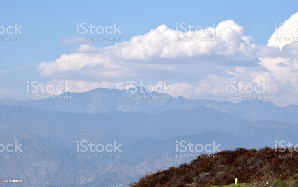Thick Clouds Above the Mountains stock photo