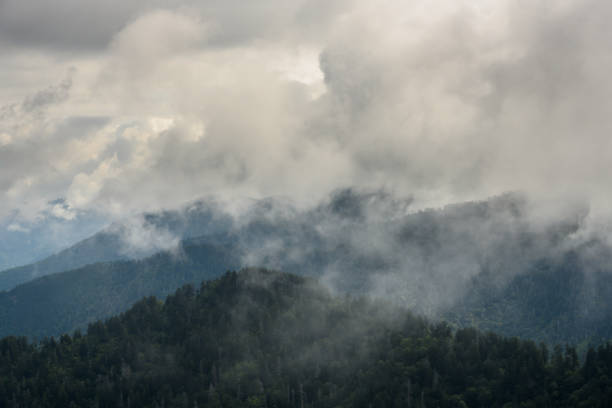 Thick Clouds Cover The Smokies stock photo