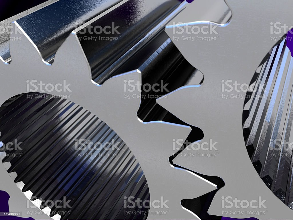 Thick gears royalty-free stock photo