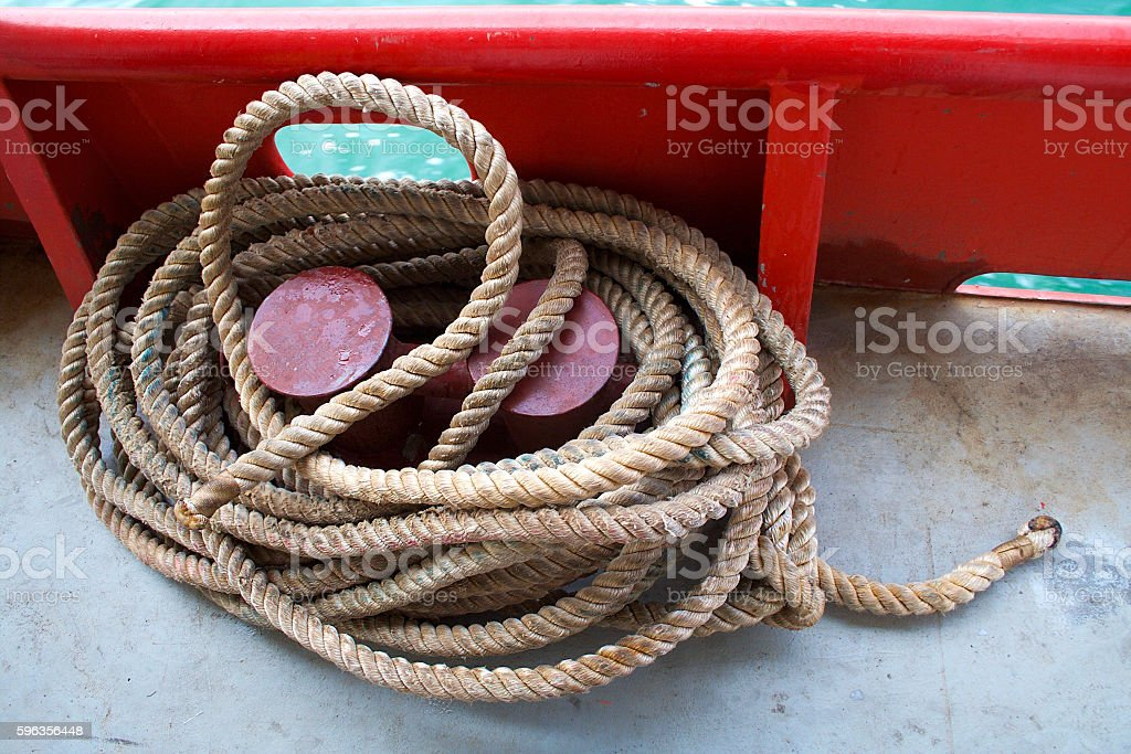 Thick ship rope. royalty-free stock photo
