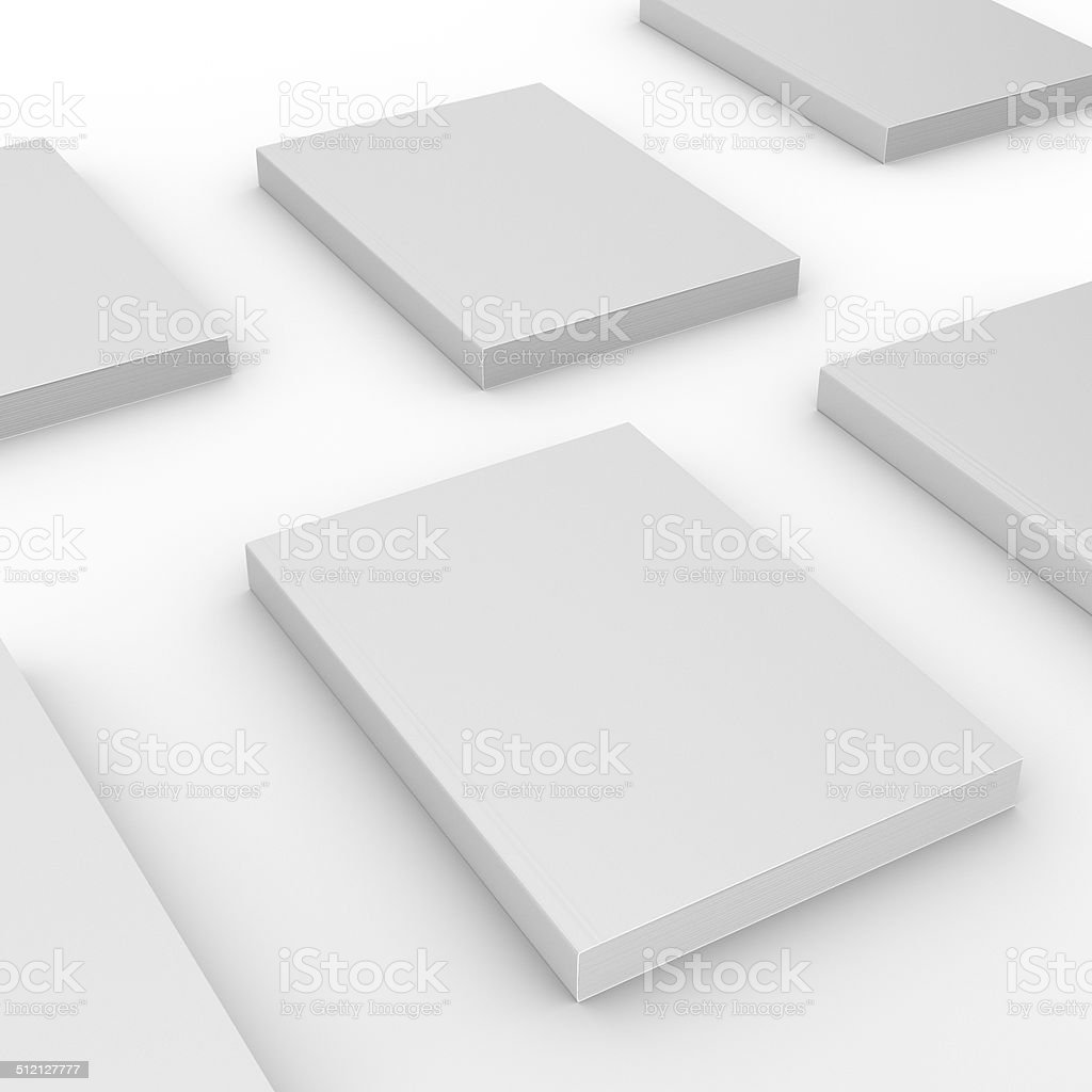 thick standard size catalogs or magazines composition stock photo