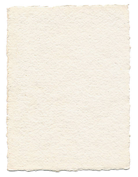 Thick Textured Paper Isolated on White A piece of thick textured paper isolated on white. Great for backgrounds. cotton texture stock pictures, royalty-free photos & images
