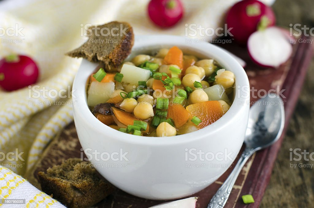 Thick vegetable soup with Noot royalty-free stock photo