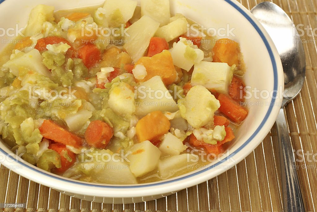 thick vegetarian soup royalty-free stock photo