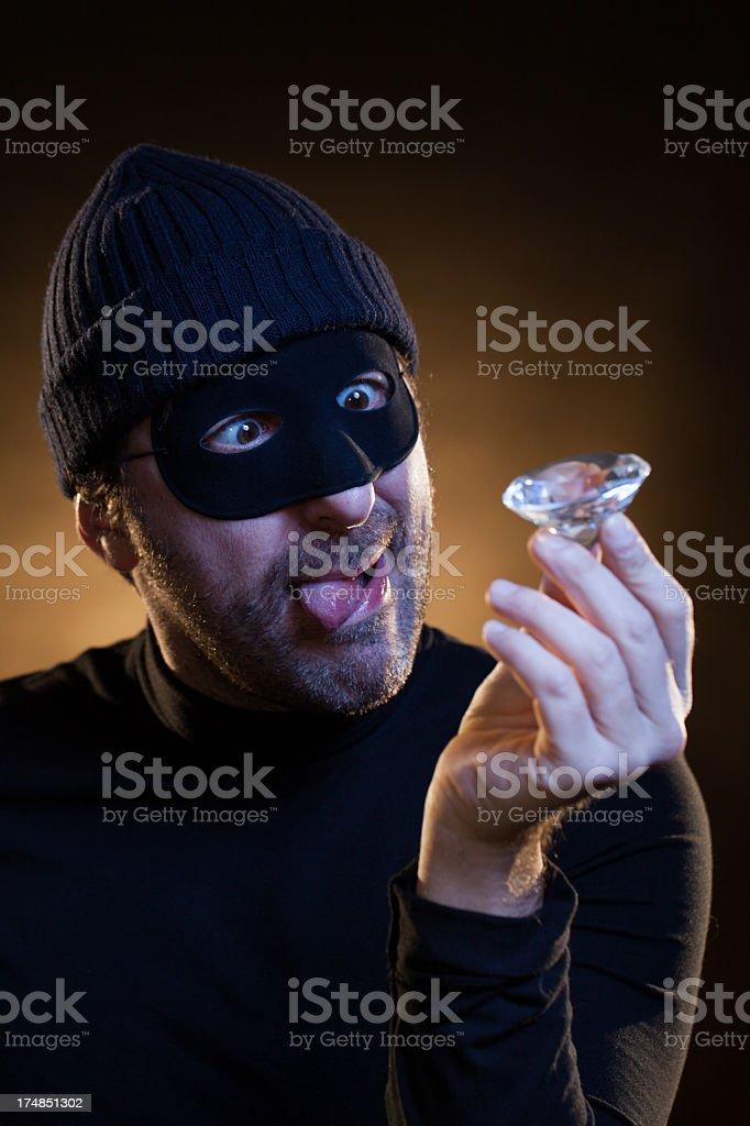 Ladro Crazy per la Big Diamante, furto - foto stock