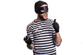 istock Thief escape from a jail 513604499