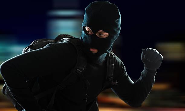 Ladrón que escapan - foto de stock