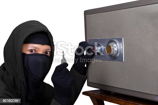 istock Thief getting the key 501602591