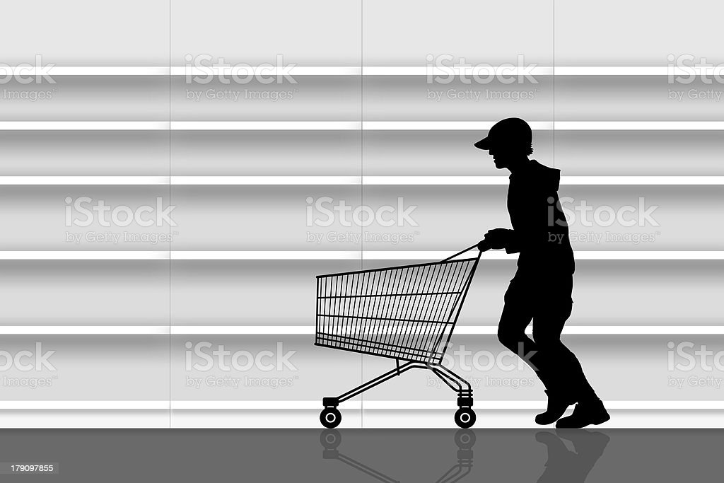 thief in a supermarket stock photo
