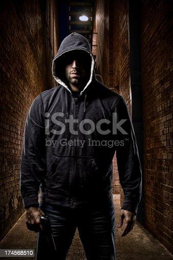 istock Thief on a dark alley 174568510