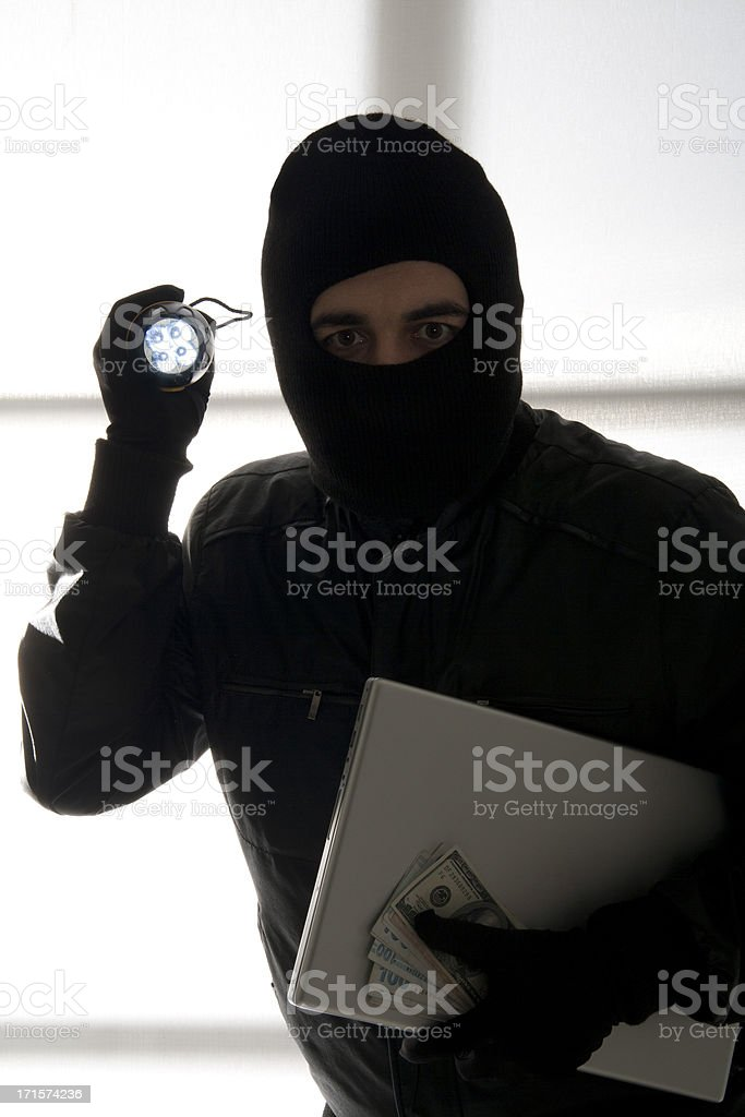 Thief royalty-free stock photo