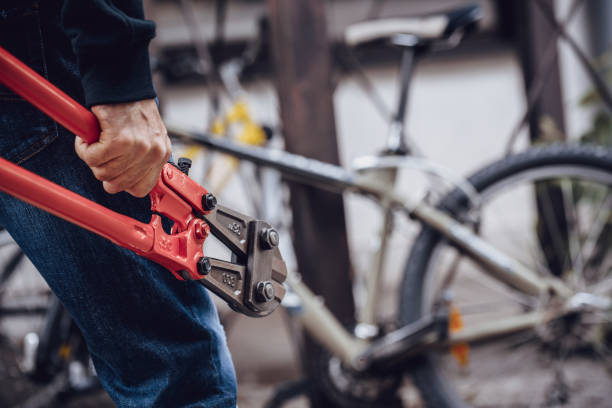 Thief Thief stealing bicycle thief stock pictures, royalty-free photos & images