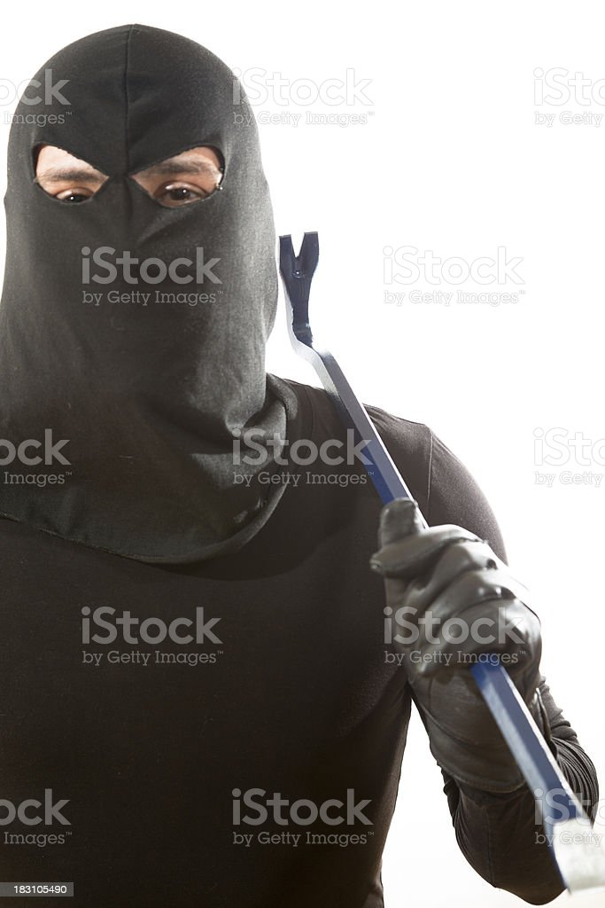 Thief with a bar royalty-free stock photo