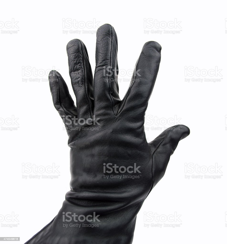 thief with black glove stock photo