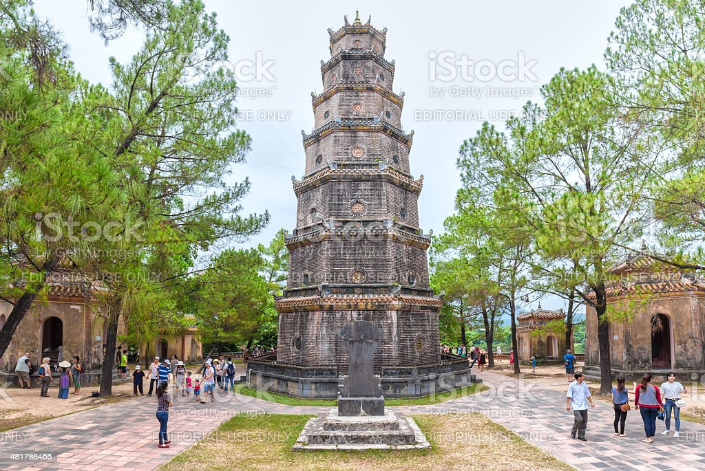 Thien Mu Pagoda, Hue on a summer day stock photo