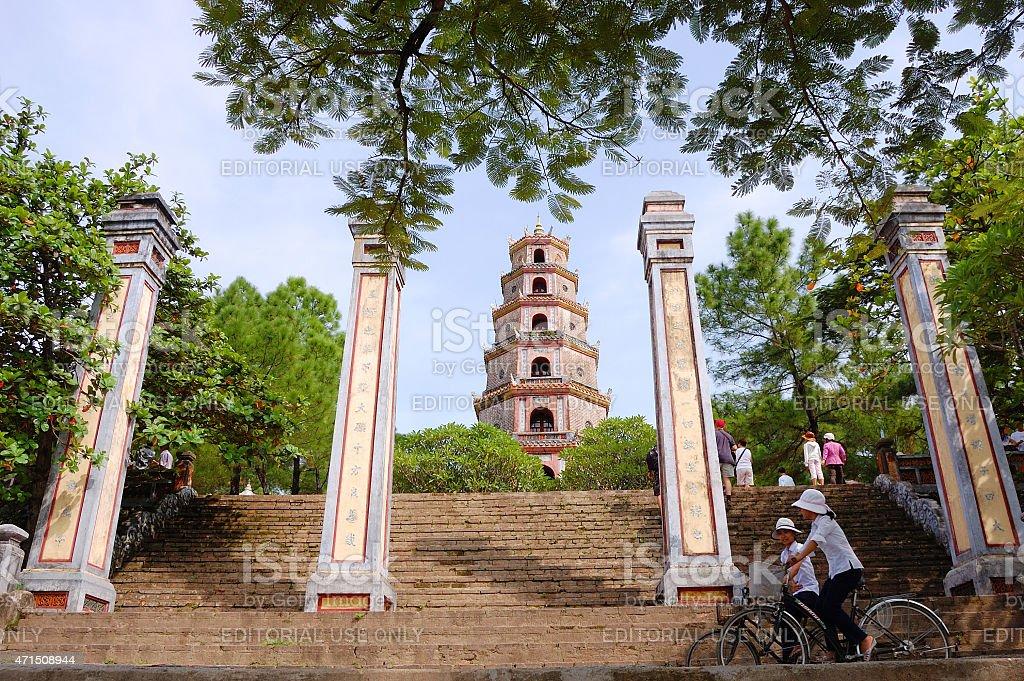 Thien Mu Pagoda, Hue, Vietnam stock photo