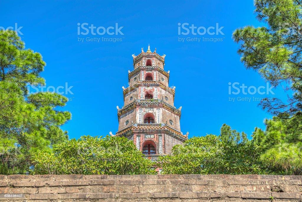 Thien Mu Pagoda - Hue, Vietnam stock photo
