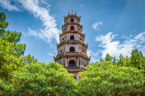 Thien Mu Pagoda in Hue Central Vietnam