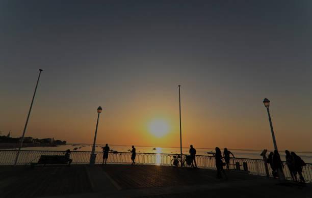 Thiers Arcachon at sunset Pier