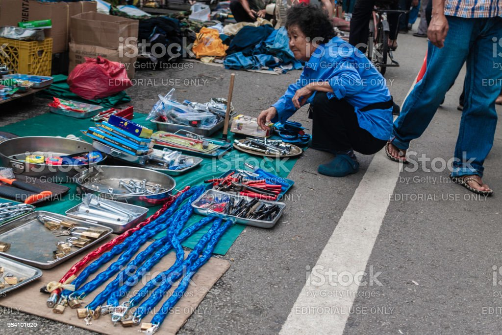 Thieves Market In Singapore Stock Photo - Download Image Now