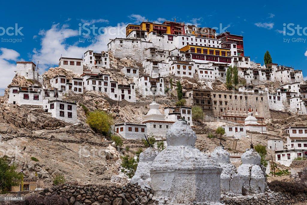 Thikse Monastery in Indus Valley Ladakh,Tibet,Kashmir,India stock photo
