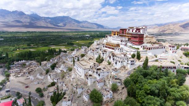 Thikse Monastery stock photo