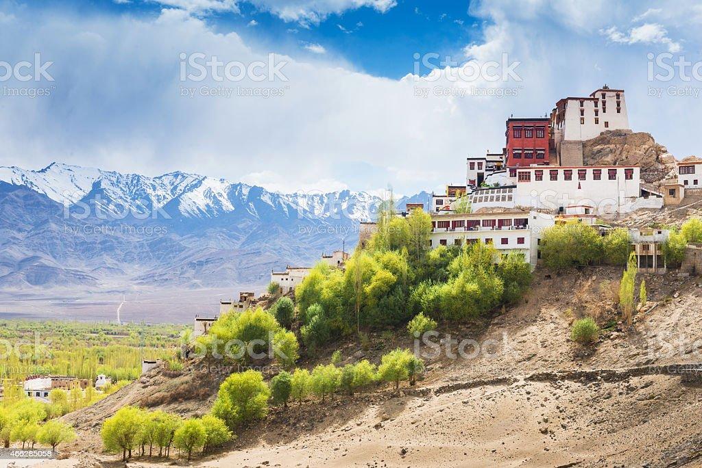 Thiksey Monastery in Leh Ladakh stock photo