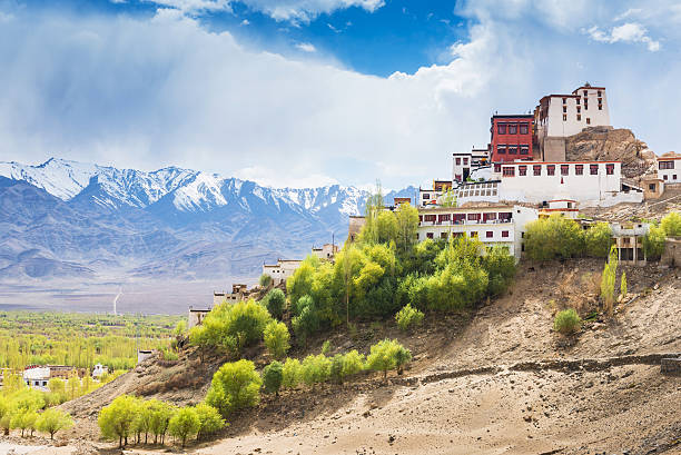 Thiksey Monastery in Leh Ladakh Thiksey Monastery is a Tibetan Buddhist monastery in Leh Ladakh, India. bodhisattva stock pictures, royalty-free photos & images