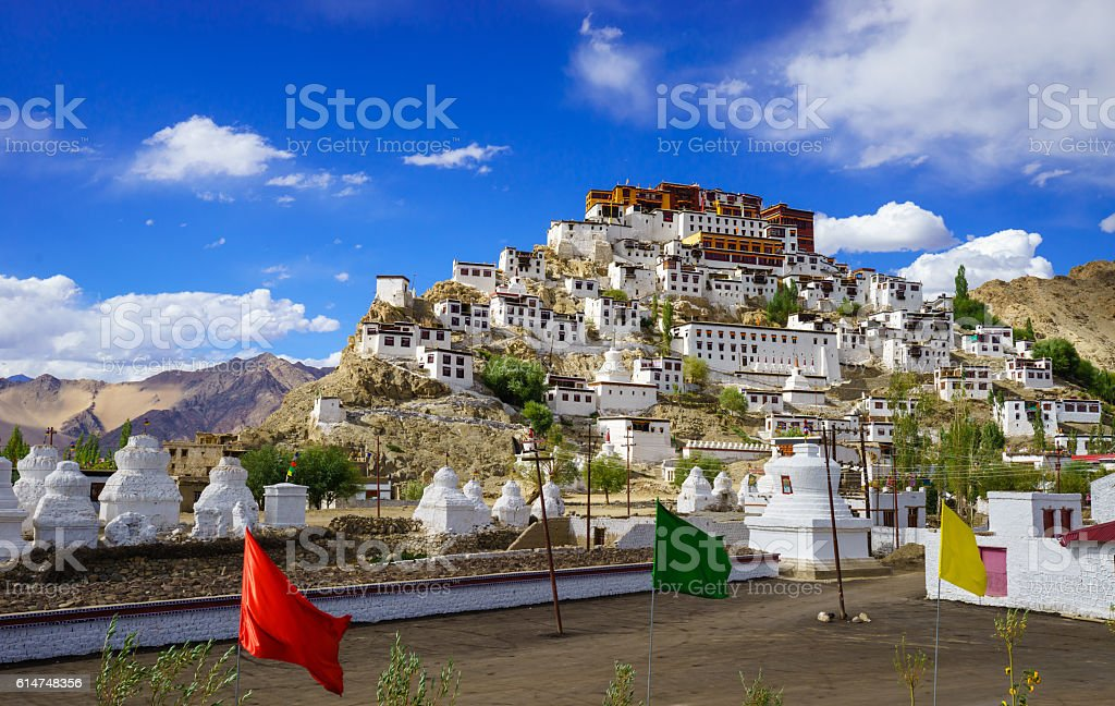 Thiksey Monastery, Leh Ladakh,  Jammu and Kashmir, India stock photo